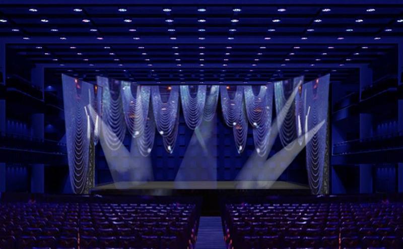 Návrh scény Proms Gala