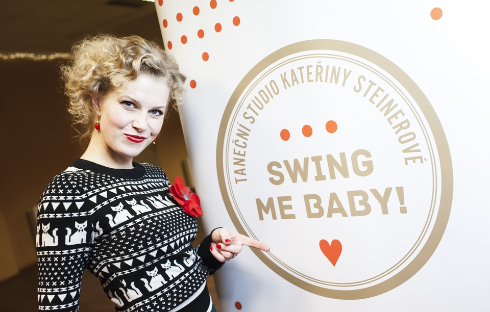 Ve studiu SWING ME BABY! (Foto: Besim Mehinbašić) Kateřina Steinerová