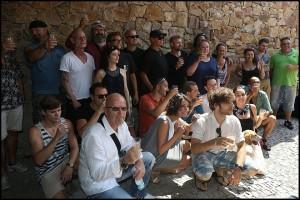 Herci a tvůrčí tým na první čtené zkoušce v pražské ZOO