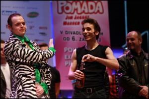 Roman Tomeš se svým nebezpečným šampusem
