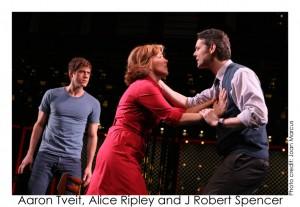 Aaron Tveit, Alice Ripley a J. Robert Spencer