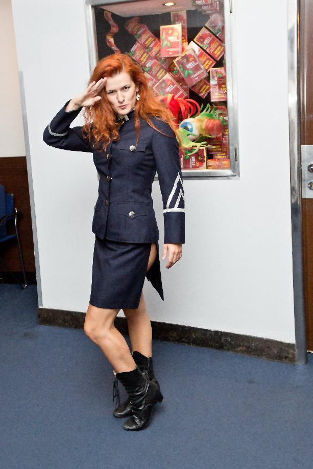 Lucia Jagerčíková v kostýmu z písně Kriminalista