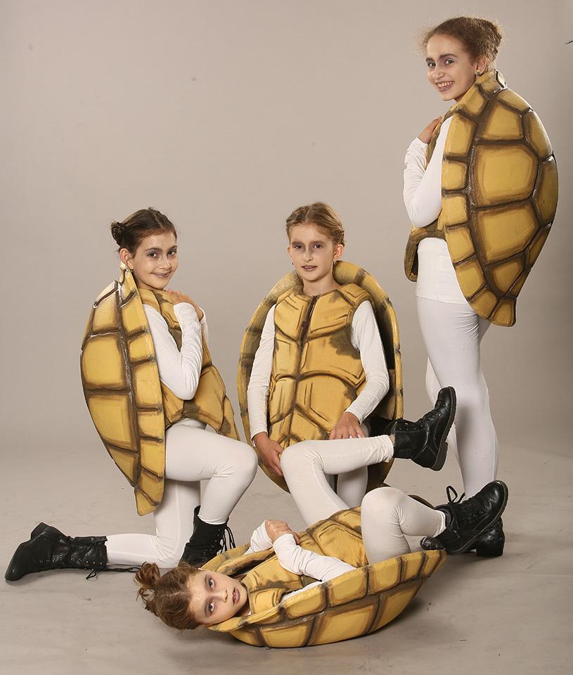 Želvy - děti (Matylda Bartůňková, Kateřina Voborská, Barbora Dolanová, Michaela Mervartová) Alenka v kraji zázraků