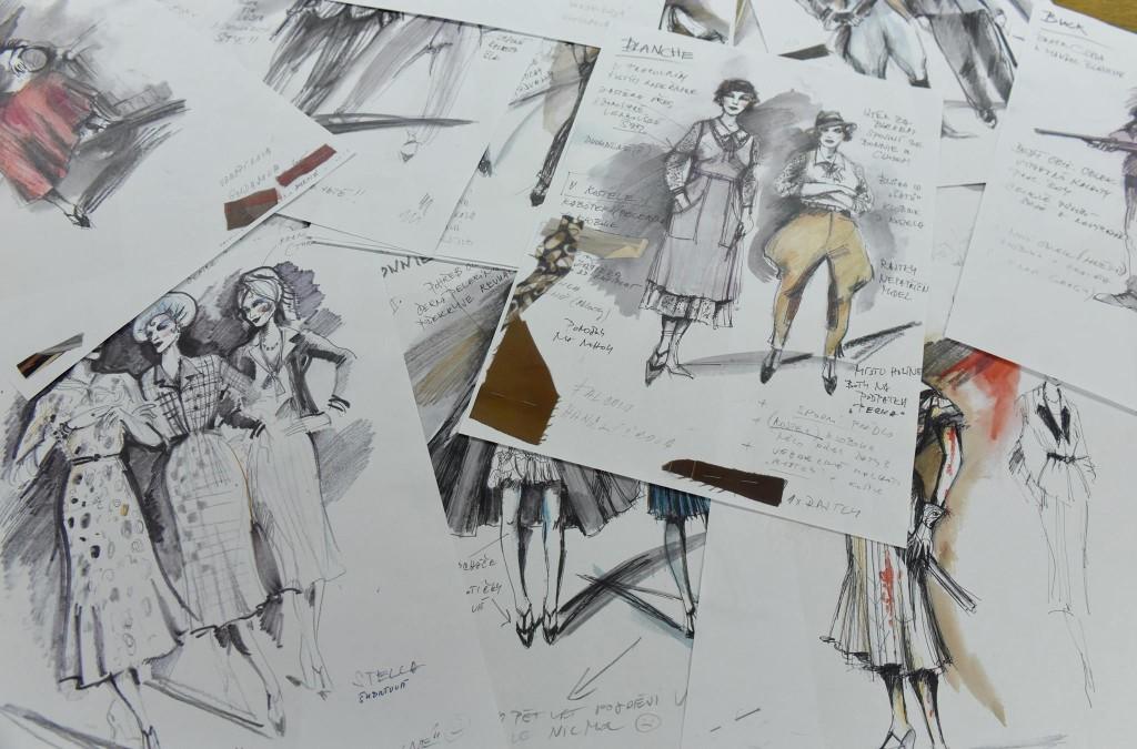 Návrhy kostýmů Dany Haklové
