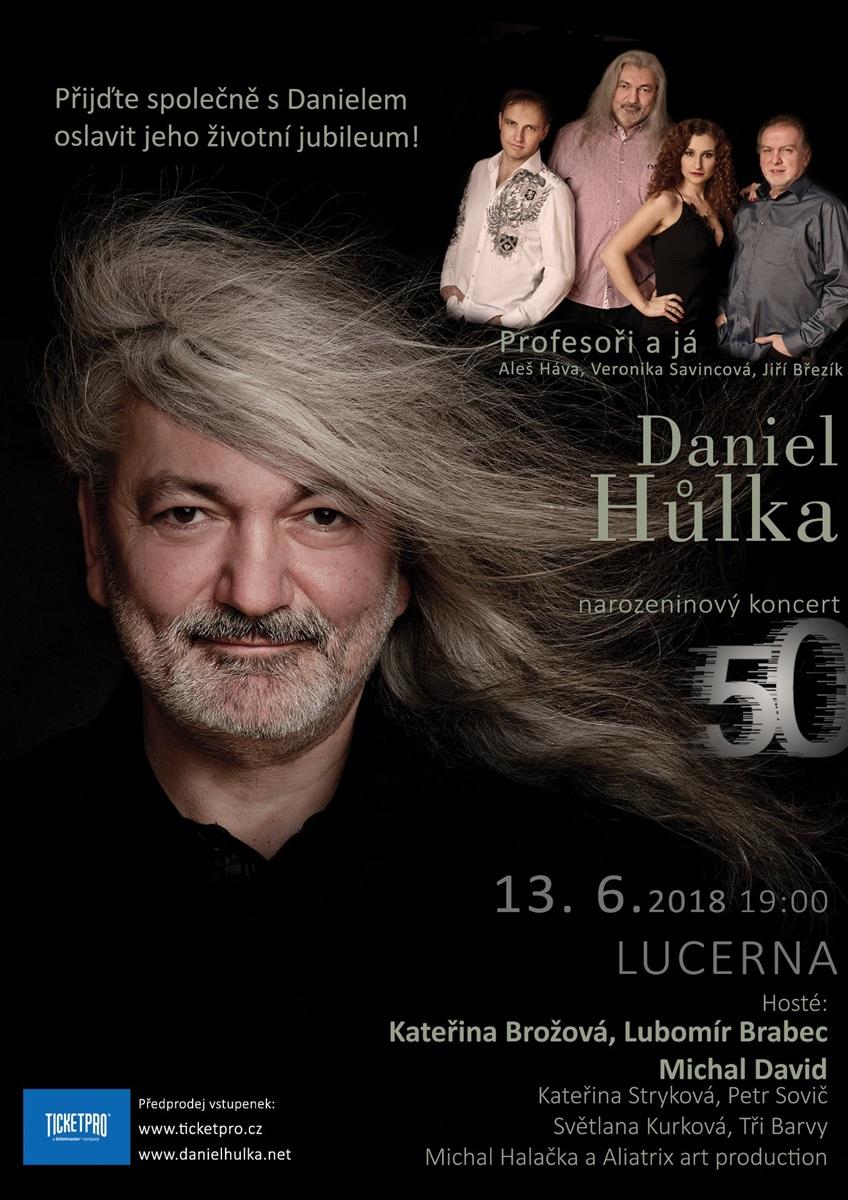 Plakát - Daniel Hůlka - narozeninový koncert