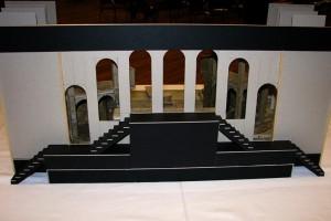 Návrh scény (zadní pohled)
