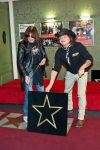 Odhalení hvězdy Tima Rice ve foyer divadla