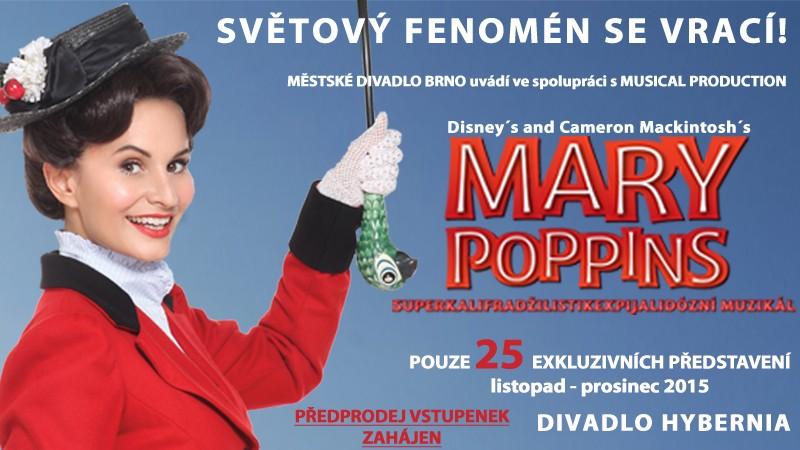 Mary Poppins zpět v Praze na 25 představení