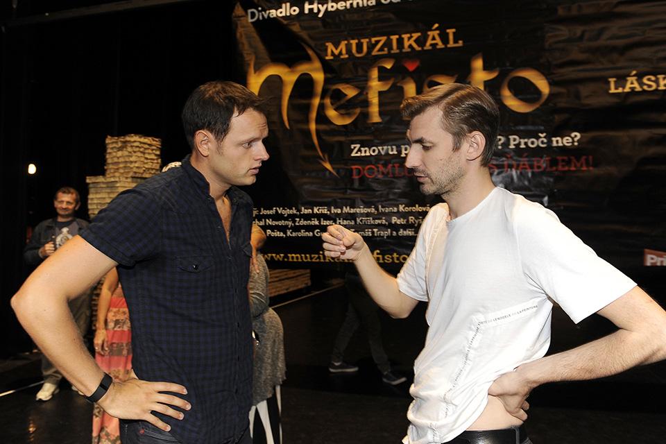 Jan Kříž a autor hudby Daniel Barták