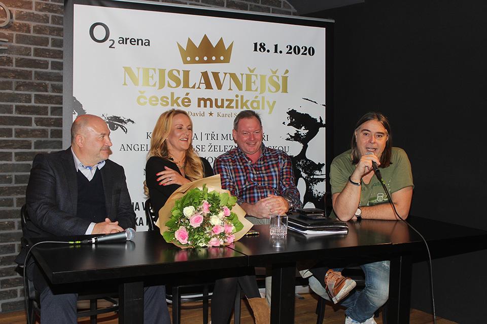 Michal David, Vendula Pizingerová, Jan Hruška a Oldřich Lichtenberg