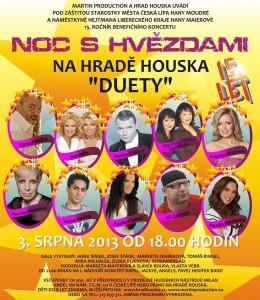 Noc s hvězdami na hradě Houseka 2013 Hůlka, Nývltová, France, Kamelie, Březinová, Horváth, Zonyga