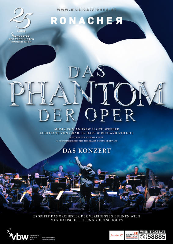 """""""The Phantom of the Opera"""" bude mít vlastní koncertní verzi také ve Vídni"""