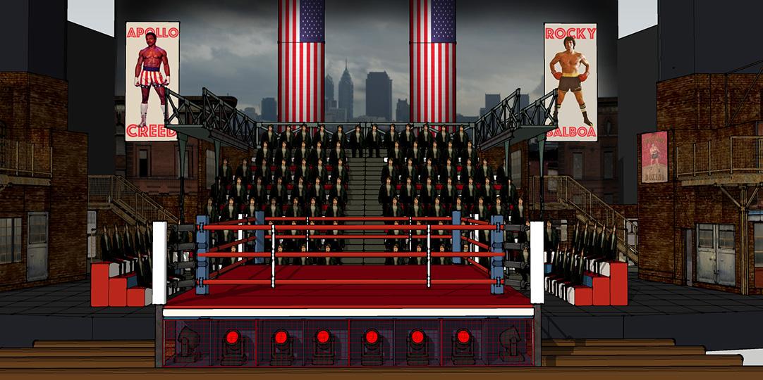 Návrh scény muzikálu Rocky