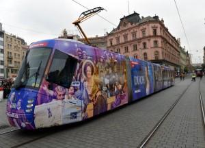 V Brně také můžete potkat novou tramvaj Městského divadla Brno