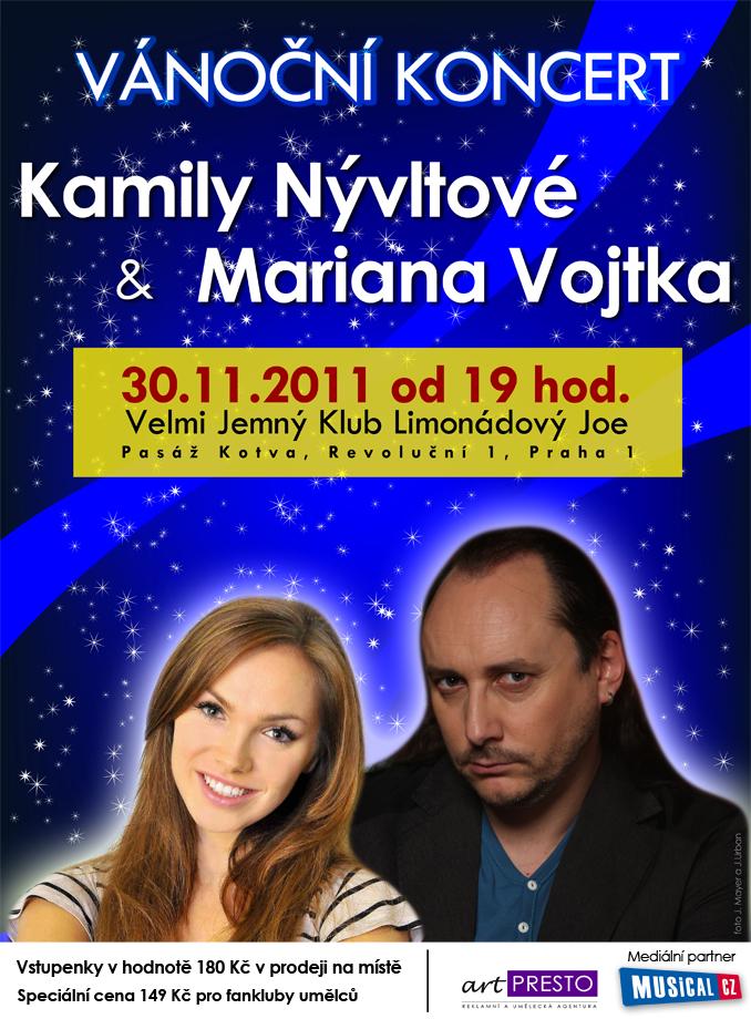 Vánoční koncert Kamily Nývltové a Mariana Vojtka