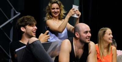 FOTOGALERIE: Sedací zkouška muzikálu VLASY v Divadle Kalich