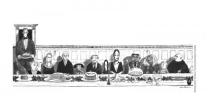 """Ilustrační kresba """"The Addams Family"""""""
