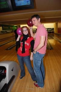 Bowlingový turnaj (Míša Nosková a Lumír Olšovský)