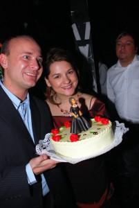 David Novotný a Magda Malá - zákulisní focení s dortem