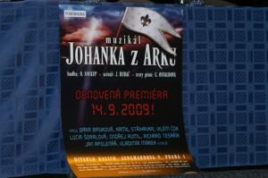 Plakát k obnovené Johanka