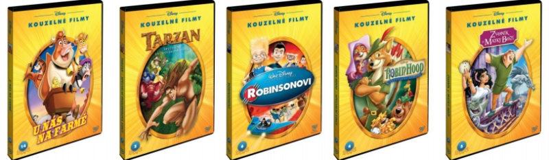 Nové reedice slavných titulů studia Walta Disneyho na DVD