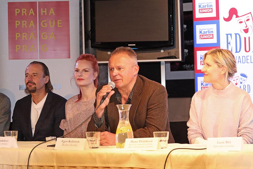 Pavel Polák, Iva Pazderková, Egon Kulhánek, Hana Třeštíková Divadelní ceny Eduard Hudební divadlo Karlín