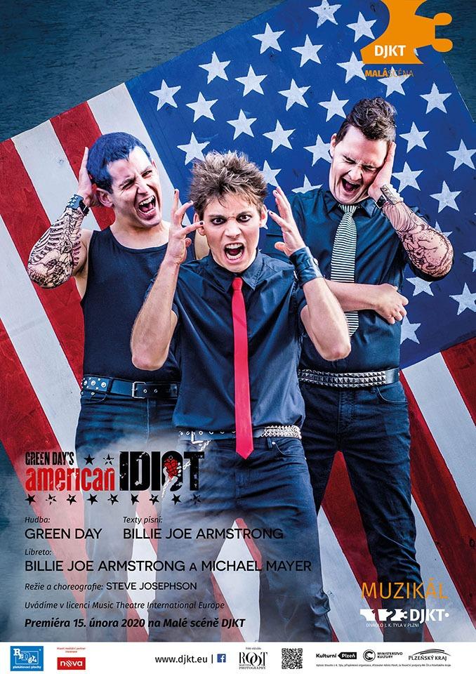 Green Day's American Idiot - plakát DJKT Plzeň