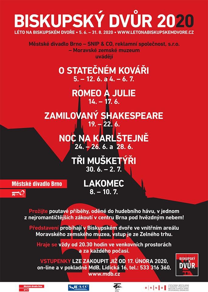 Léto na Biskupském dvoře Městské divadlo Brno