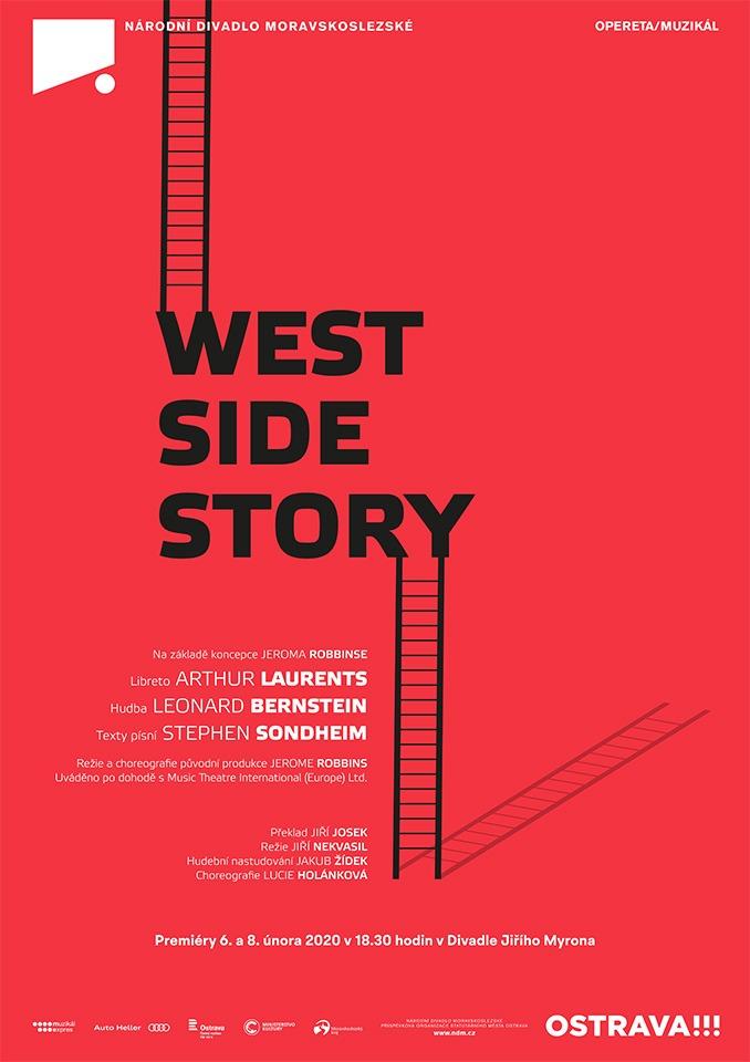 Plakát West Side Story muzikál Národní divadlo moravskoslezské Divadlo Jiřího Myrona Ostrava