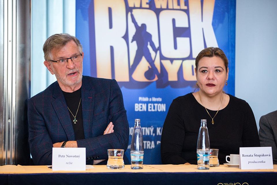 Petr Novotný a Renata Štupáková WE WILL ROCK YOU muzikál musical