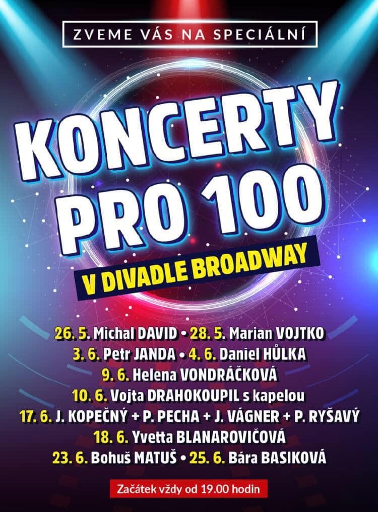 Koncerty pro 100 Divadlo Broadway