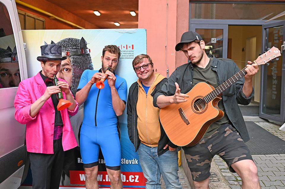Městké divadlo Brno Myslíme na vás Patrik Földeši, Jonáš Florián, Michal Isteník, Libor Matouš