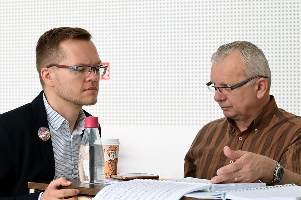 My Fair Lady, muzikál, zkouška, DJKT Plzeň, Pavel Bár, Martin Kantořík