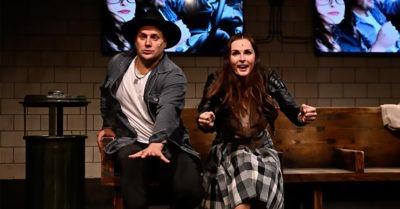 Tomáš Savka a Martina Šnytová v muzikálu PĚT LET ZPĚT on-line. Pouze jednou
