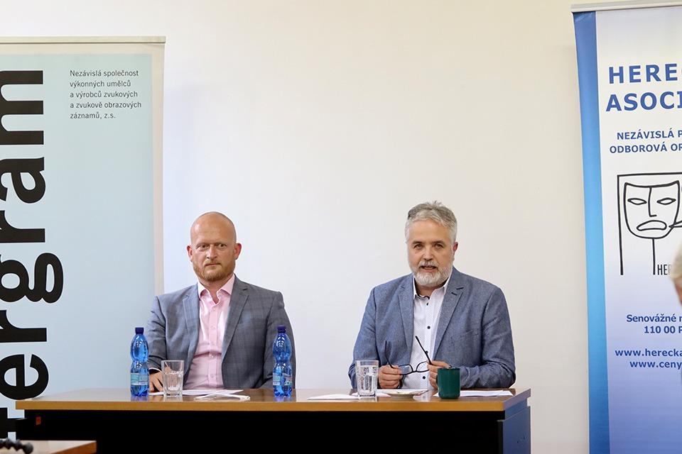Ceny Thálie, Herecká asociace, Intergram, Ludvík Bohman (ředitel Intergram) a Ondřej Kepka (prezident Herecké asociace)