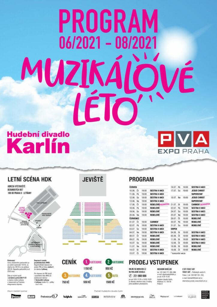 Hudební divadlo Karlín, Hdk, Letní scéna, Open Air