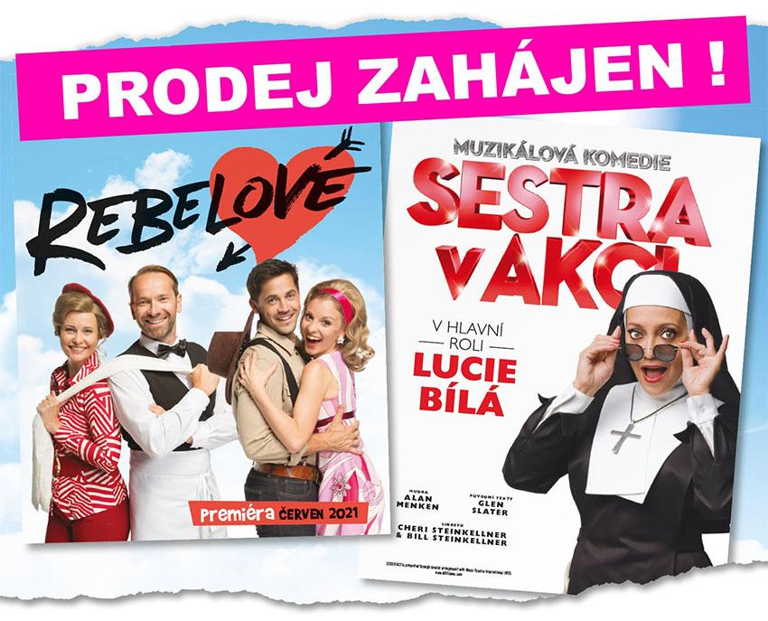Hudební divadlo Karlín, Letní scéna, Open Air, Sestra v akci, Rebelové