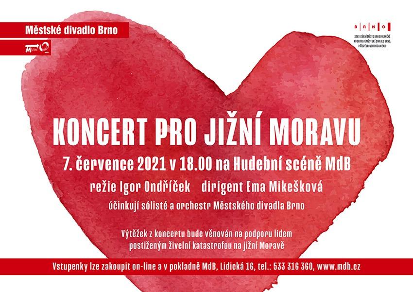 Koncert pro jižní Moravu, BRNO Městské divadlo Brno podpoří jižní Moravu koncertem RADEK JANDA30. 6. 20210 Městské divadlo Brno