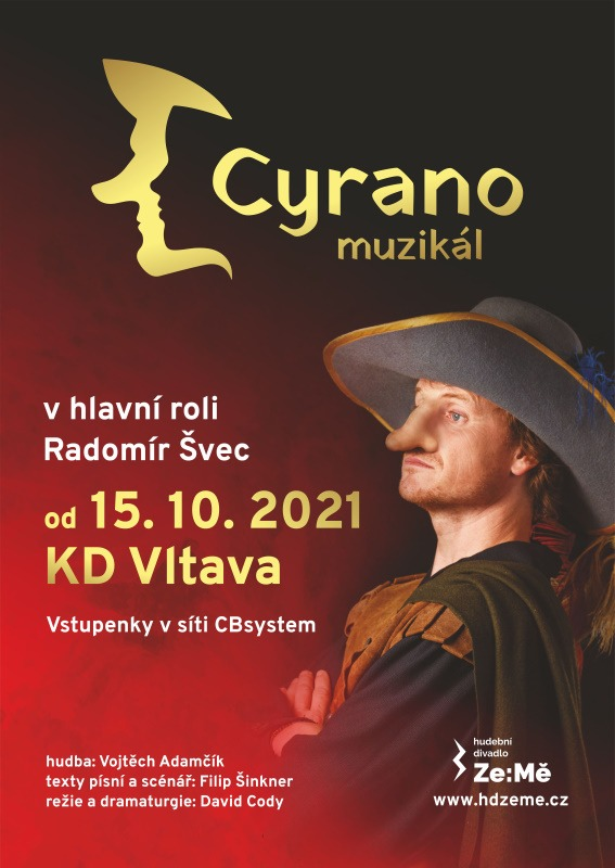 Plakát - Cyrano - Radomír Švec