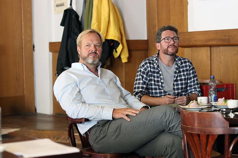 Petr Gazdík a Robert Jícha, Pretty Woman, Městské divadlo Brno, Tisková konference
