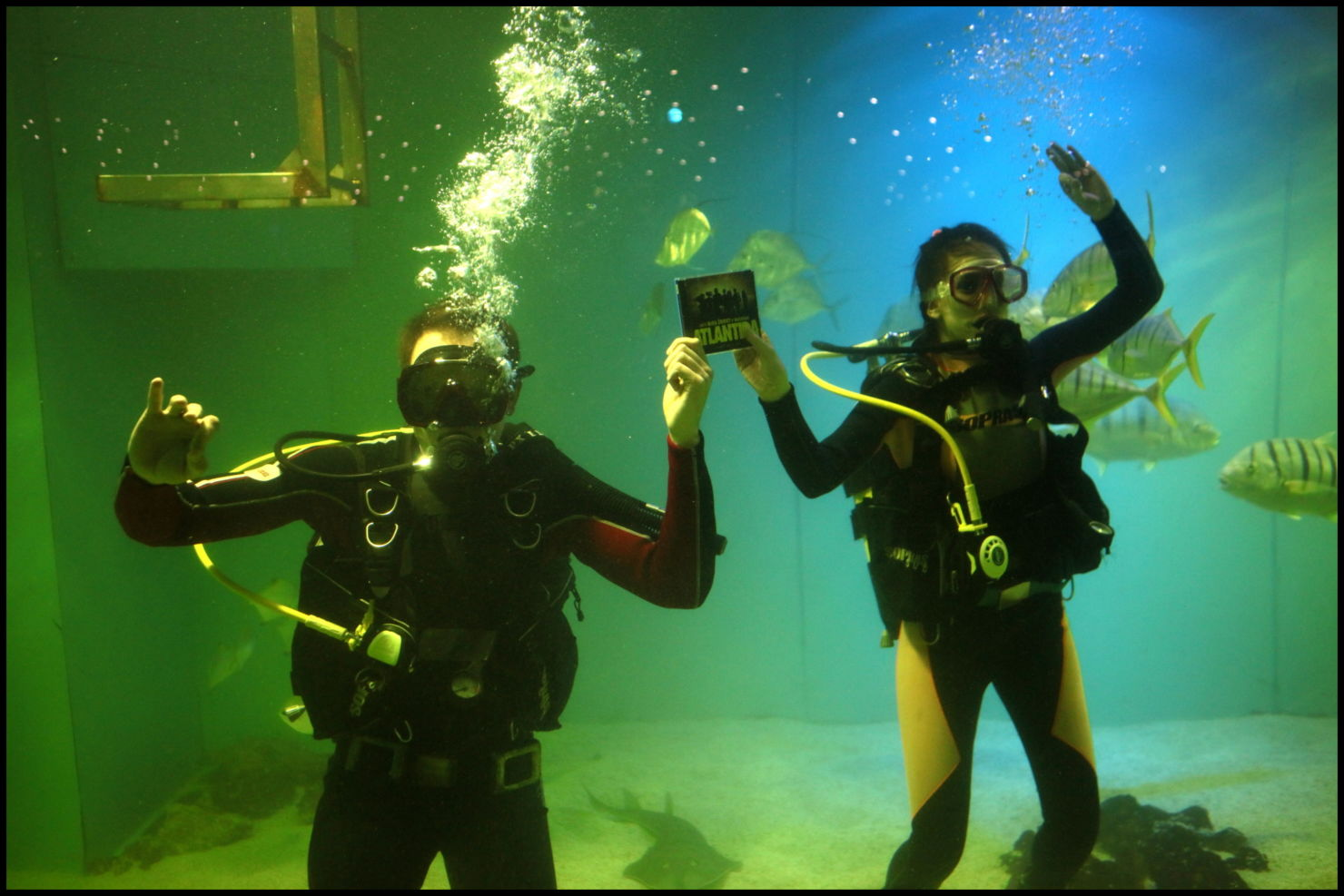 Muzikál ATLANTIDA vychází na CD, herci ho pokřtili v největším mořském akváriu