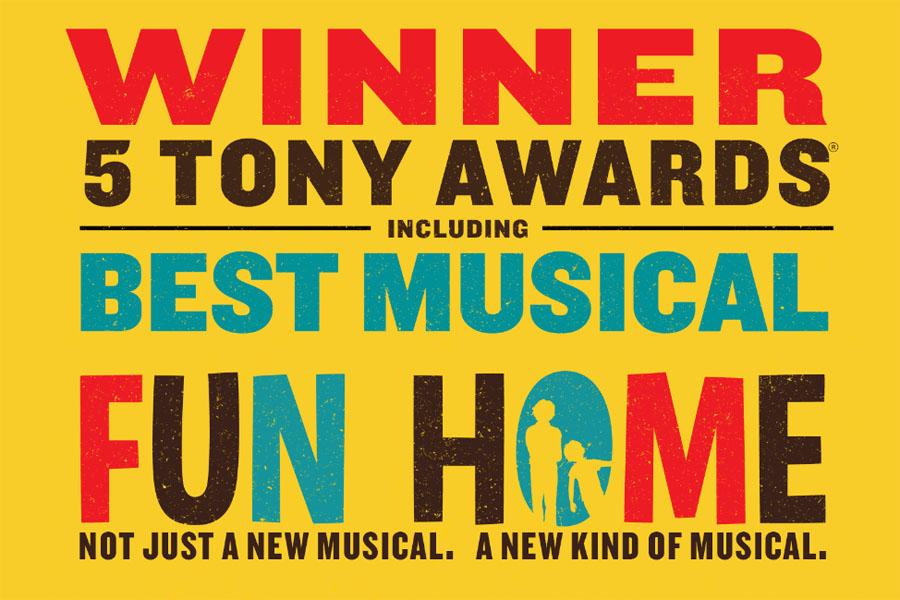 Nejlepším letošním muzikálem Broadwaye je Fun Home, získal 5 cen Tony