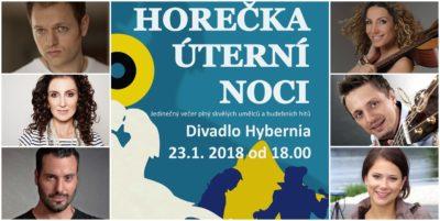 Benefiční muzikálový galavečer HOREČKA ÚTERNÍ NOCI v Divadle Hybernia