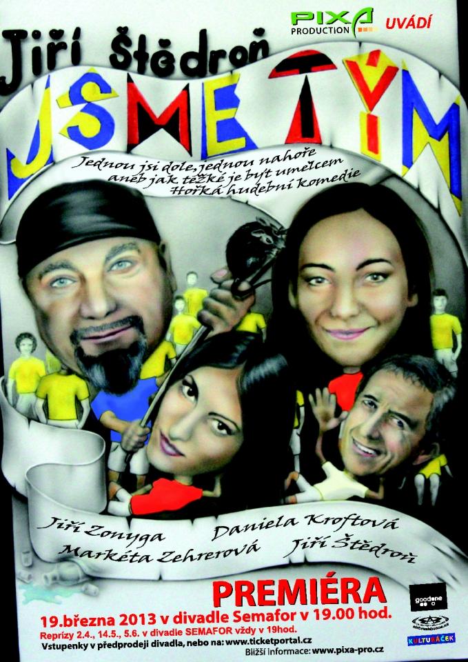 """""""Jsme tým"""" – nová hudební komedie v divadle Semafor"""