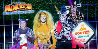 Vyhrajte vstupenky a další pěkné dárky muzikálové show MADAGASKAR