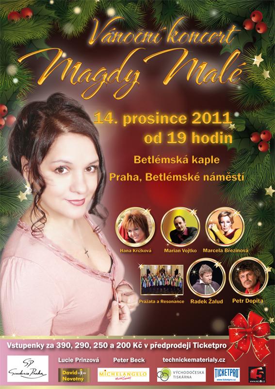 Pozvánka na Vánoční koncert Magdy Malé
