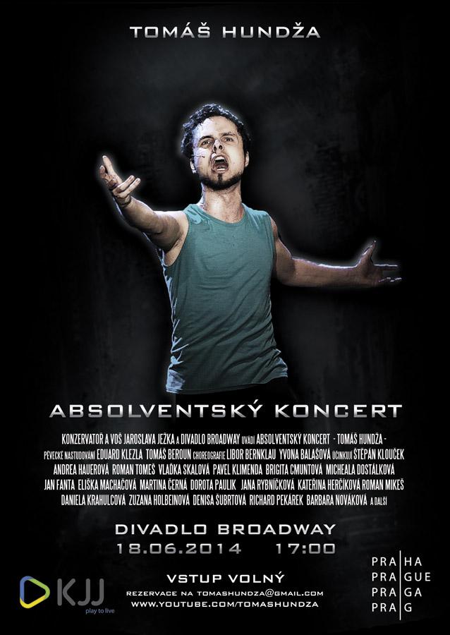 Tomáš Hundža zve na muzikálový absolventský koncert do Divadla Broadway