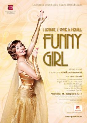 "Ústecká ""Funny Girl"" s Monikou Absolonovou bude hostovat v Praze"