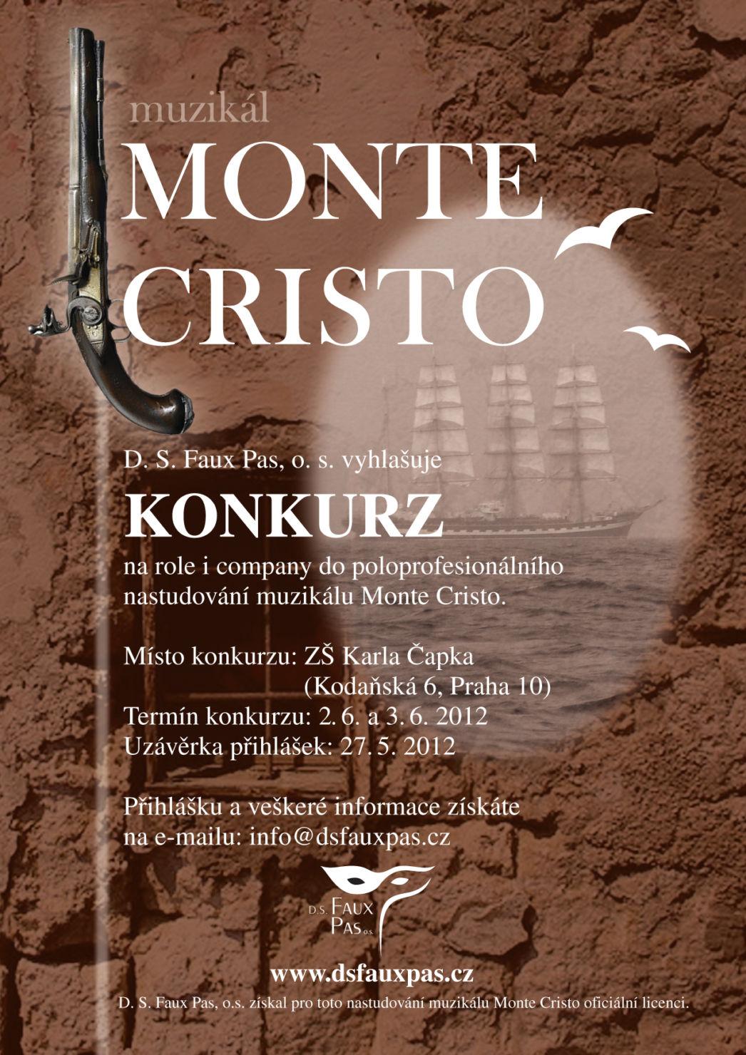 "Konkurz: Poloprofesionální uvedení Svobodova ""Monte Crista"""